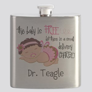 Personalized Funny Gynecologists Flask